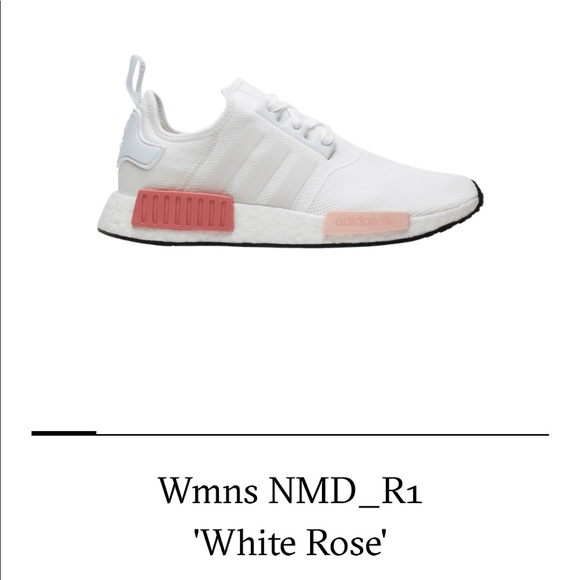 Adidas Shoes Nmd R1 White Rose Poshmark